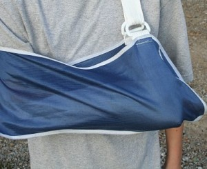 Broken Arm in sling