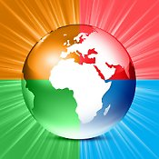 Colorful globe symbolizes commitment to Earth Justice