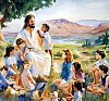 clipart of Jesus with children