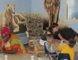Parents volunteer in the Toddler Room at Forest Hill Presbyterian Church, Cleveland