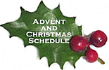 Advent Schedule Holly