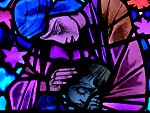 Compassion: stained glass window in the National Cathedral