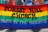 Forest Hill Church's Pride Banner